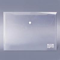 Папка-конверт с кнопкой BRAUBERG A4 прозр., до 100 листов, 0,15мм 221638