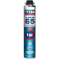 Tytan Professional 65 UNI Пена монтаж. (п/пистолет) зимняя 750мл (-10C) арт.10933 вес баллона 1000гр